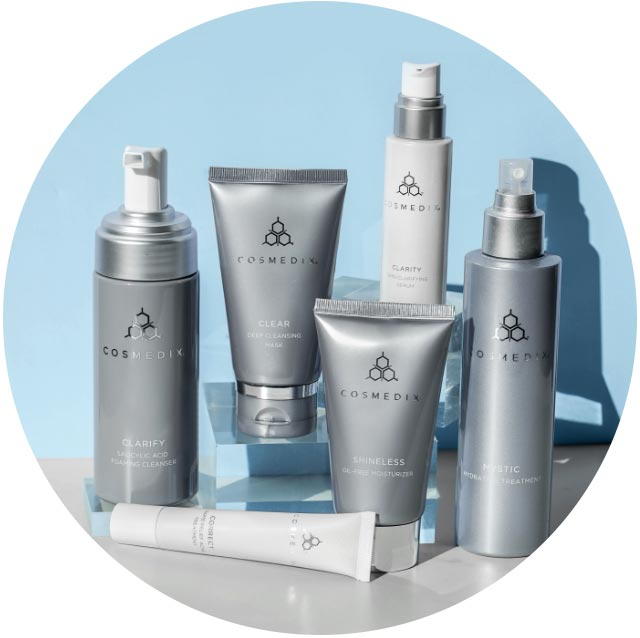 Skin care products from Cosmedix.