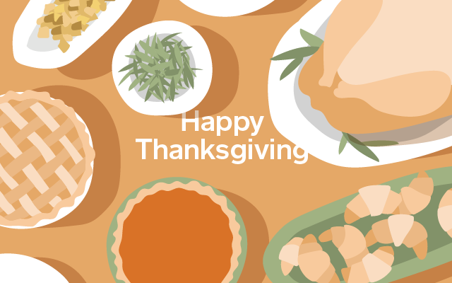 Spa Gift Cards - Happy Thanksgiving